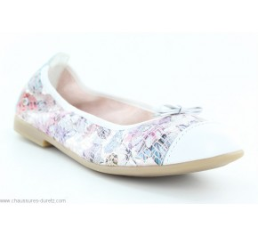 Ballerines filles Bopy SAMANTA Blanc / Multicolore