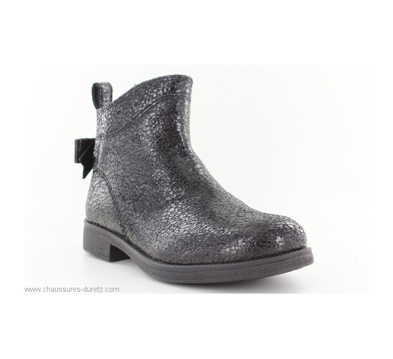 prix limité style populaire procédés de teinture minutieux Boots fille Géox FUNK Noir
