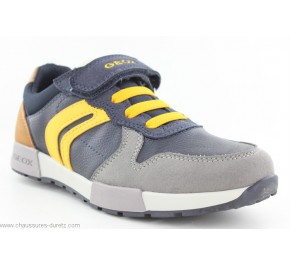 Baskets garçon Geox FUN Navy / Yellow
