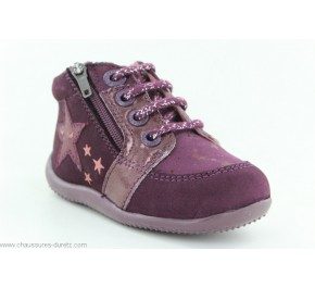 Bottines fille Kickers BOUSTAR Violet