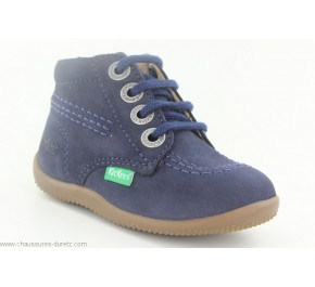 Bottines bébés Kickers BILLY Marine Nubuck