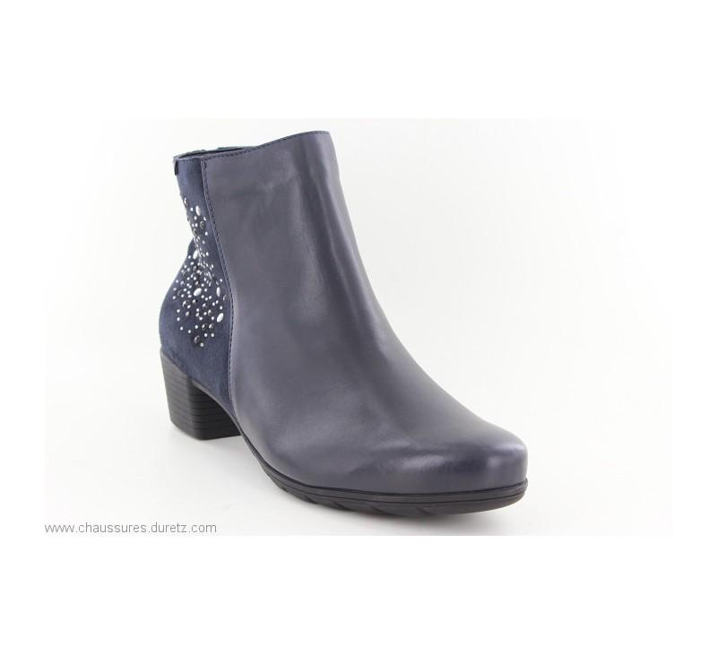 c67847637e2a64 Boots Mephisto ILSA SPARK Navy   Talons plats Mephisto pour Femme