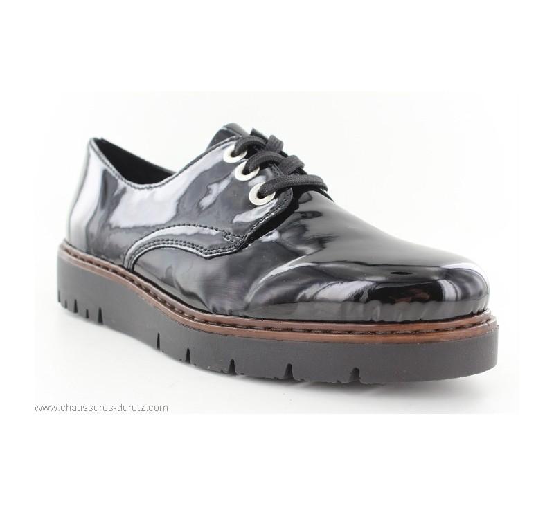 6af1406e7a2205 Bottines Rieker CUVE Noir M5809-00   Chaussures à lacets Rieker pour ...