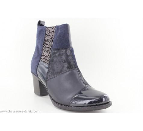 68083920c0b649 Boots Rieker CREPE Bleu Z7686-14 | Talons hauts Rieker pour Femme