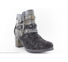 Boots femme Mustang - ECUME Gris