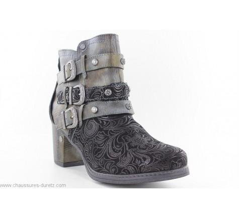 FIN Noir Boots Boots femme Mustang EQxBorCedW