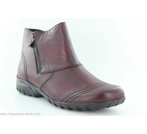 Boots femme Rieker CSG Bordeaux Z4682-35