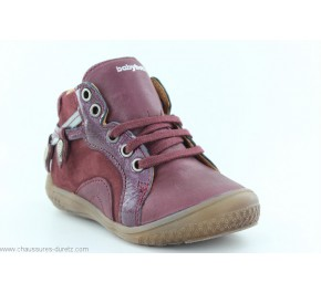 Bottines fille Babybotte AIGLANTINE Bordeaux