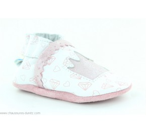 Chaussons fille Robeez LOVELY PRINCESS Blanc