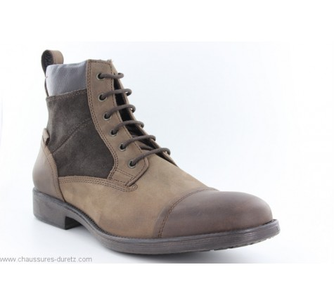 Bottines Geox GARS Coffee   Boots   Bottines Geox pour Homme 0e926e241236
