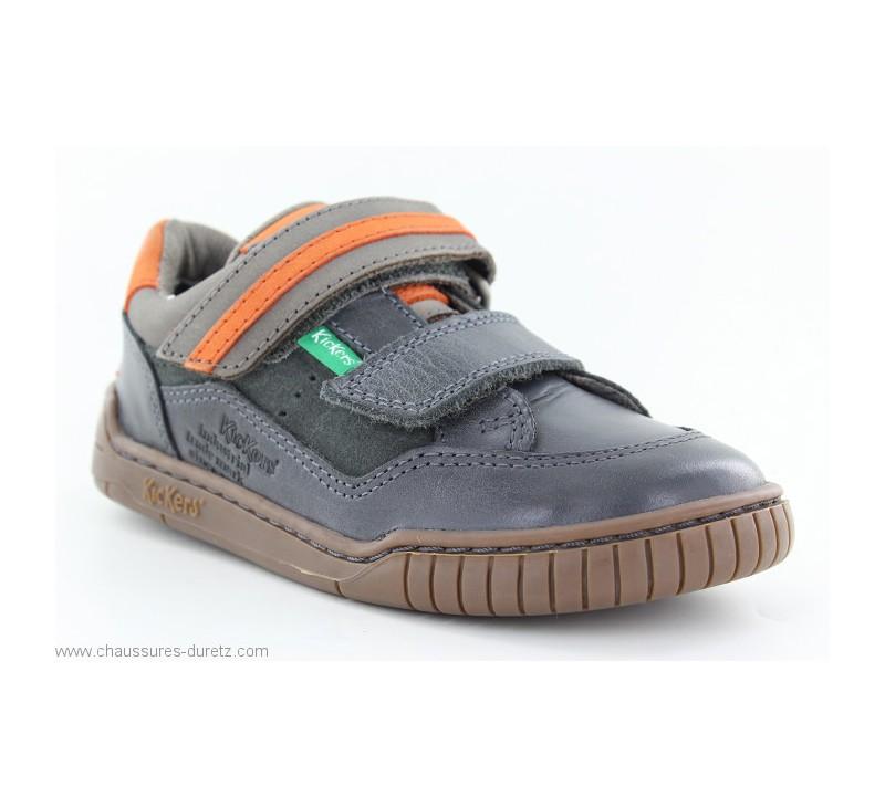 9b781e5142cec0 Chaussures Kickers WIKETTE Gris | Chaussures basses Kickers pour Enfant