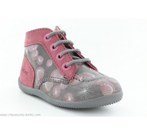Bottines fille Kickers BONZIP Gris Print