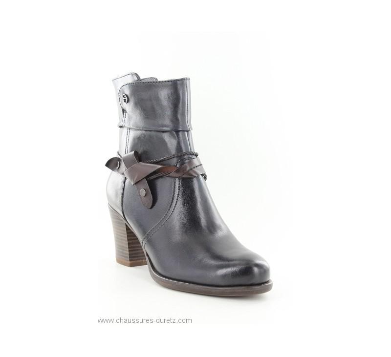 Boots Tamaris RIVE Navy   Mocca   Talons hauts Tamaris pour Femme 9fc54852d424