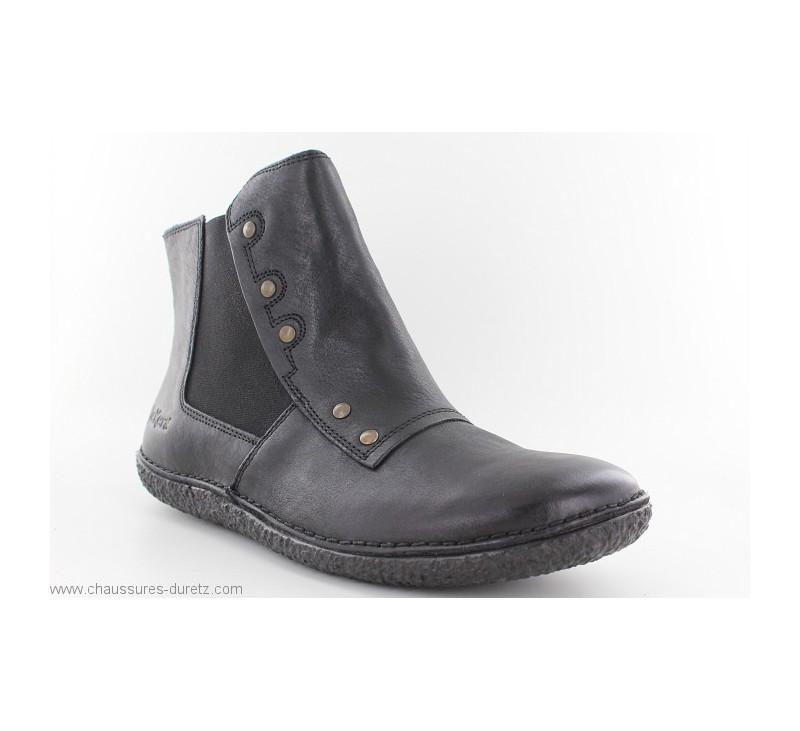 Boots femme Kickers HAPPLI Noir