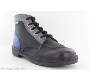 Bottines femme Kickers KICK COLOR Noir / Bleu