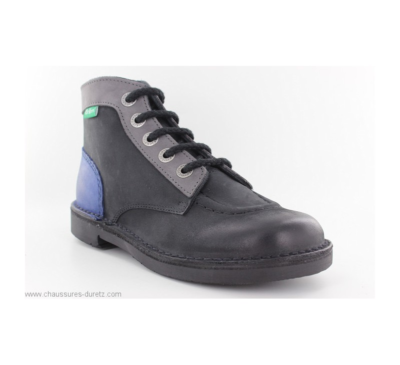 b9e7c35df37095 Bottines Kickers KICK COLOR Noir / Bleu | Boots & Bottines Kickers ...