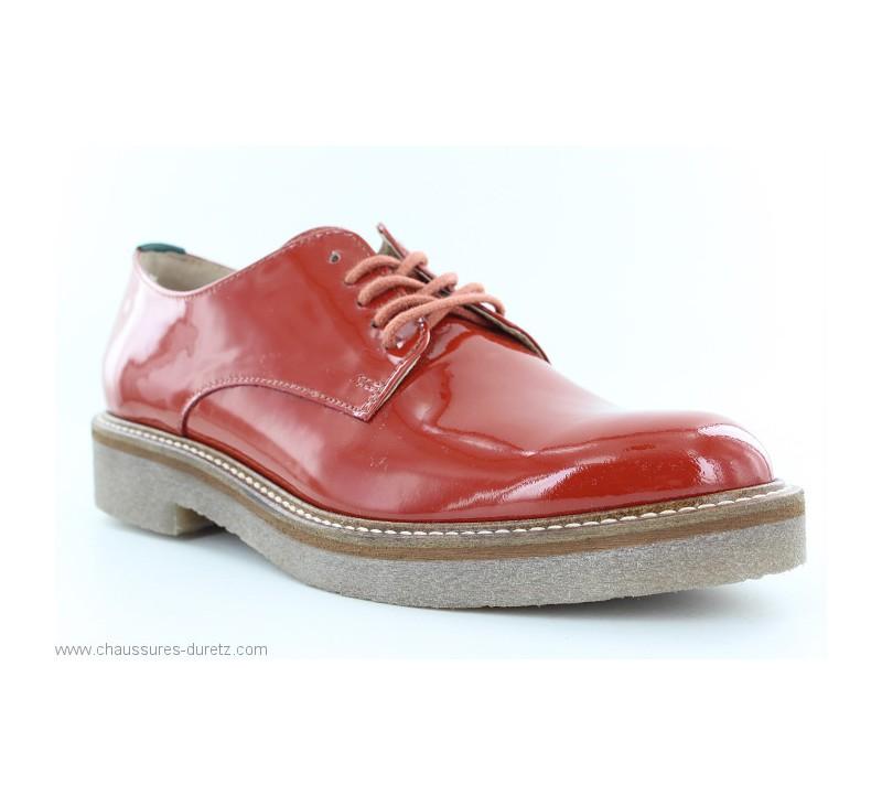 fb820d43d13d Chaussures Kickers OXFORK Rouge   Chaussures à lacets Kickers pour Femme
