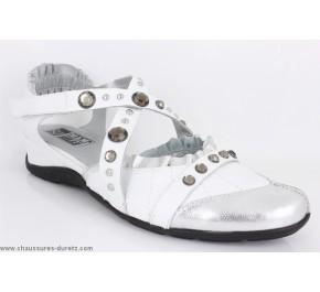 Chaussures femme Mam'zelle HOOD Acier / Blanc