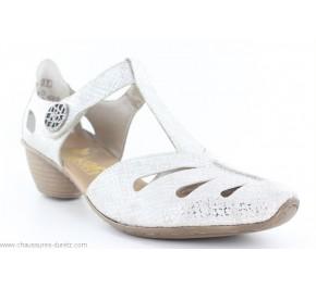 Chaussures femme Rieker BAS Argent 43750-80