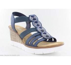 Sandales femme Rieker DOLLAR Bleu 65515-14