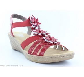 Sandales femme Rieker DISTA Rouge 62461-34