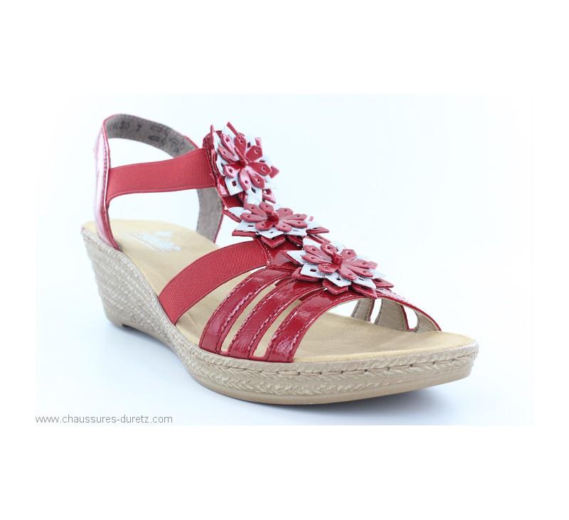 Sandales femme Rieker DISTA Rouge 62461 34