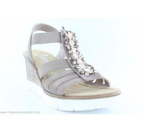 Sandales femme Rieker DOMINO Beige 65596-64
