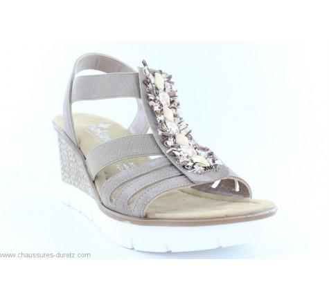 Sandales femme Rieker DITO Metallic 61900 90