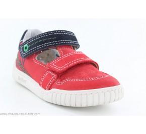 Chaussures garçon Kickers WHATSUP Rouge / Gris