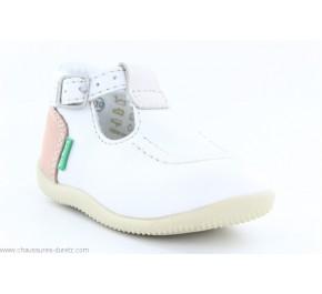 Chaussures Bébés Kickers BONBEK Blanc / Multi