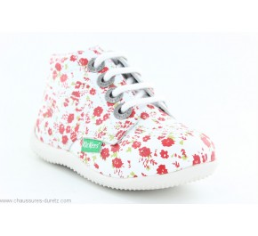 Bottines bébés Kickers BILLY Blanc fleuri