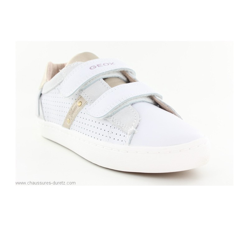 010ebba4bcaddb Baskets Geox FUNE Blanc | Baskets Mode Geox pour Enfant