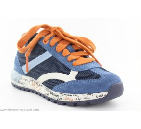 Baskets garçon Geox FAT Navy / Orange