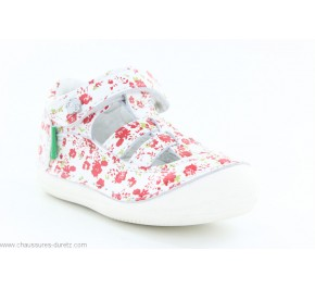 Chaussures fille Kickers - SUSHY Rose Pois