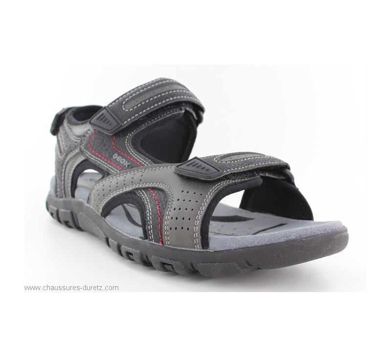 8c5909552fbf Sandales Geox FANIO Grey | Sandales & Nu-pieds Geox pour Homme