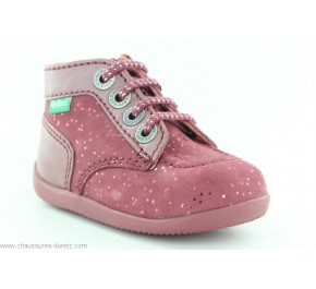 Bottines fille Kickers BONZIP Rose