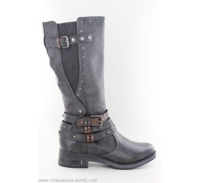 Bottines Mustang AVRIL3 Graphite | Talons plats Mustang pour