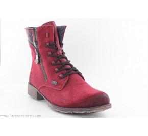 Bottines femme Rieker ENBUT 70840-35 Rouge