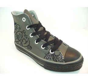 Baskets Converse TATOO FLOWERS Gris