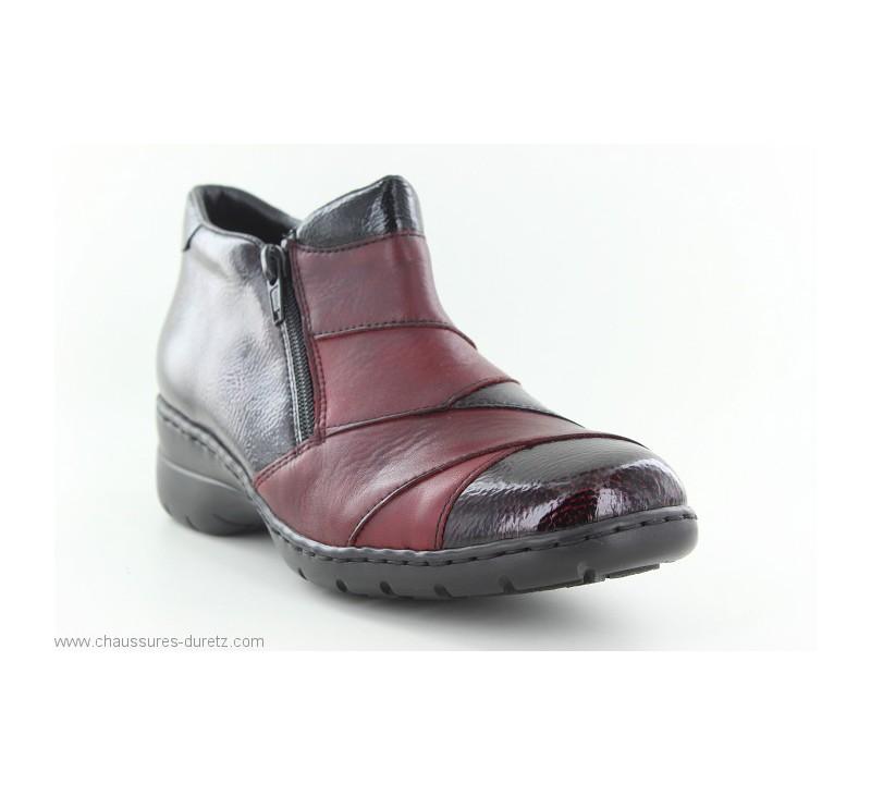 Boots femme Rieker CUISSE Rouge L4373 35
