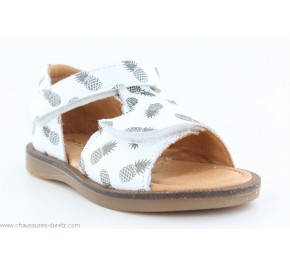 Sandales fille Babybotte TROPICAL Blanc / Ananas