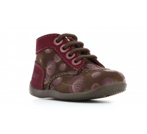 Bottines fille Kickers BONZIP Marron Print