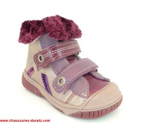 Bottines fille Babybotte ACTEUR Parme / Prune