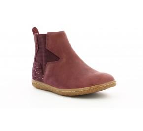 Boots fille Kickers VERMILLON Rose Foncé