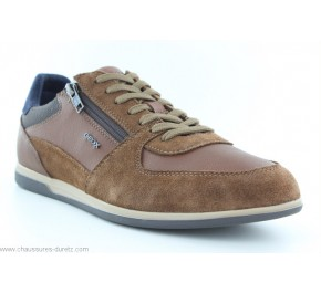 Chaussures homme Geox FUSIL Cognac