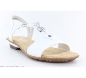 Sandales femme Rieker DRAP Blanc 63453-80
