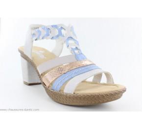 Sandales femme Rieker FOIE Multi 66593-60