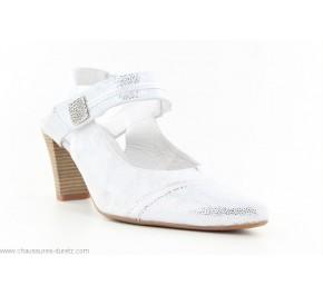 Escarpins femme Artika ALASSIO Blanc / Argent