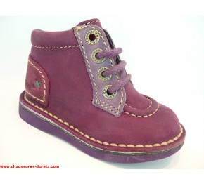 Bottines bébés Kickers WORLD Violet / Mauve