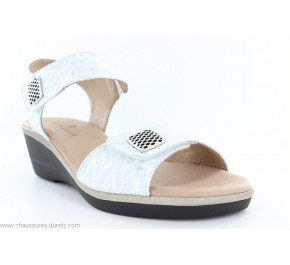 Sandales femme Artika NATY Silver / Blanc